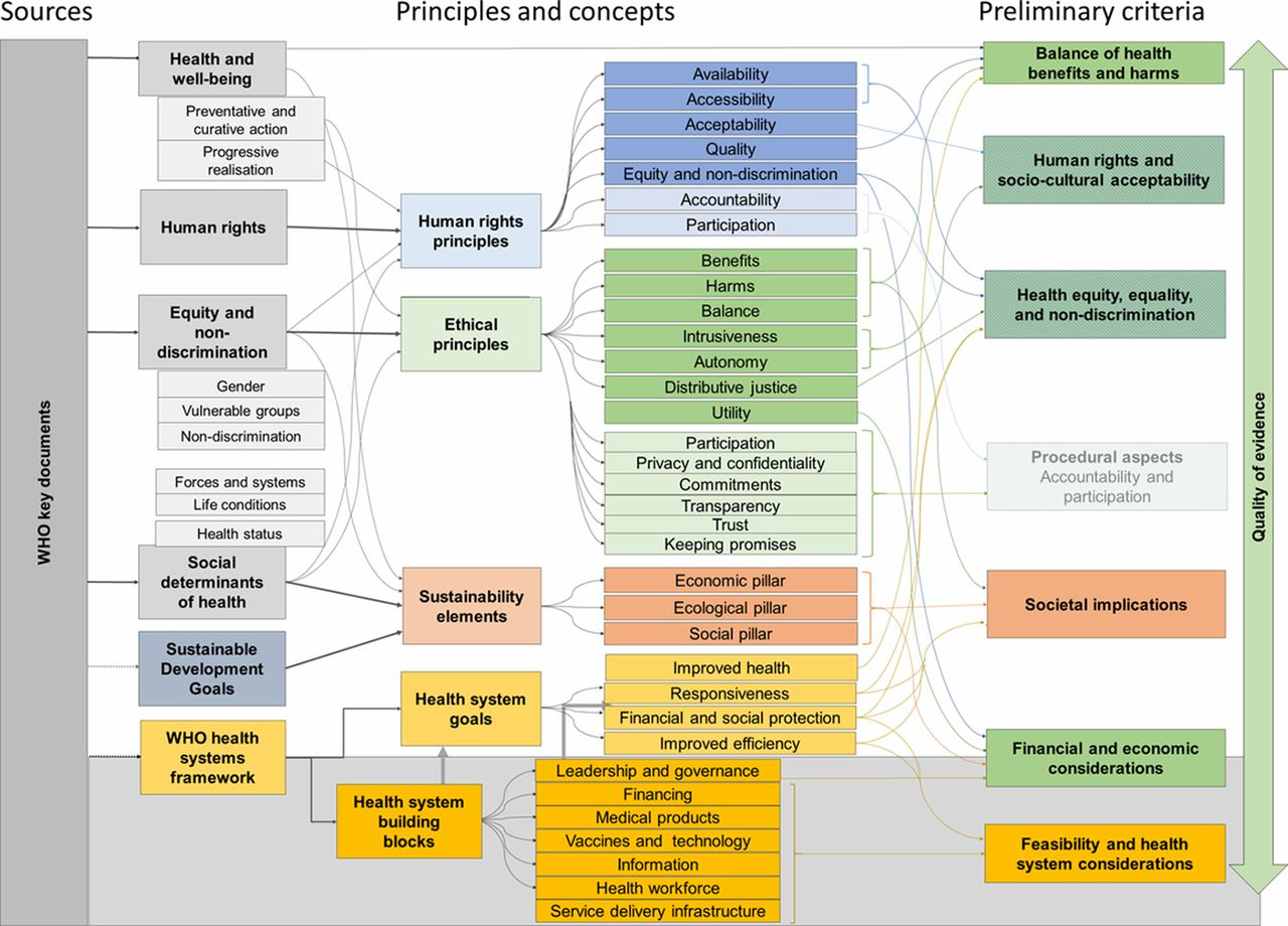 The WHO INTEGRATE evidence to decision framework version 9.9 ...